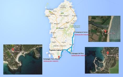 Sardegna 2014 Map