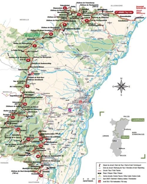 Map Grande Traversée des Vosges